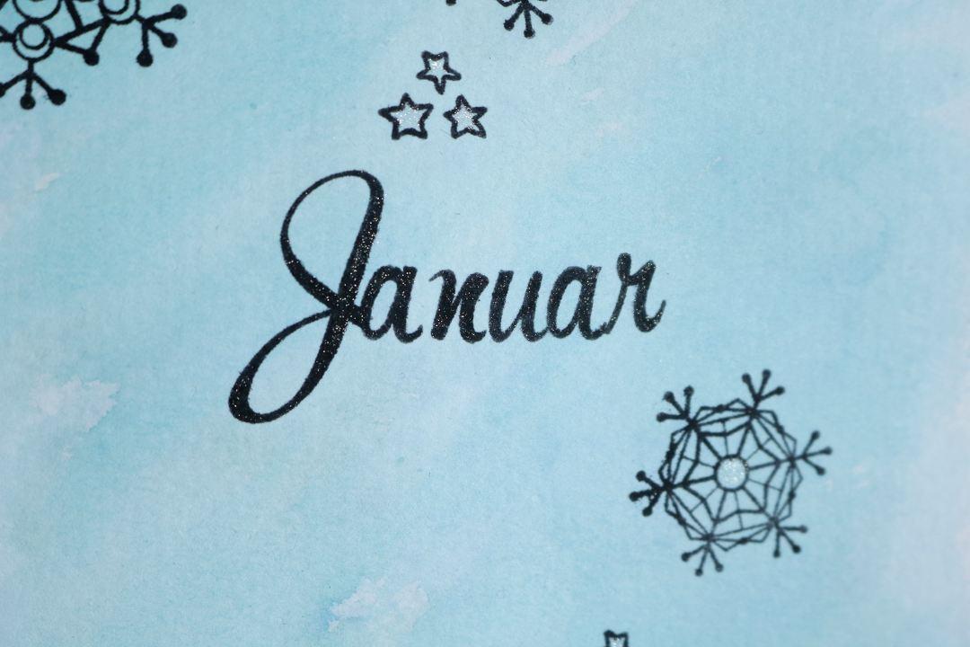 Bullet Journal Monatsdeckblatt Januar 2