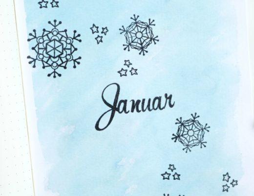 Bullet Journal Monatsdeckblatt Januar 1