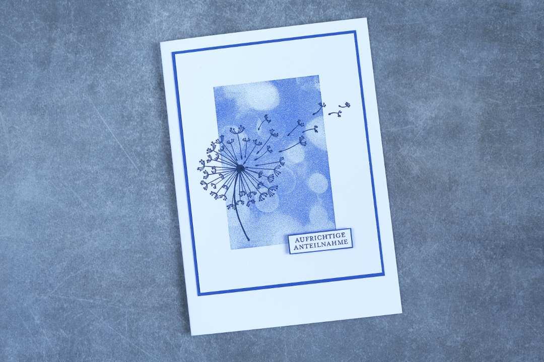 Das zeige ich dir - Oktober 2018 - Trauerkarte Bokeh Pusteblume mit Produkten von Stampin' Up!
