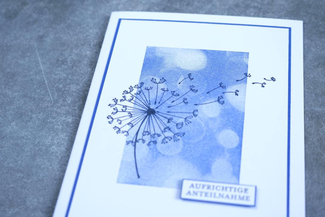 Das zeige ich dir - Oktober 2018 - Trauerkarte Bokeh Pusteblume mit Produkten von Stampin' Up!1