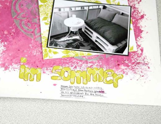 GDP093 Scrapbooking Layout Im Sommer