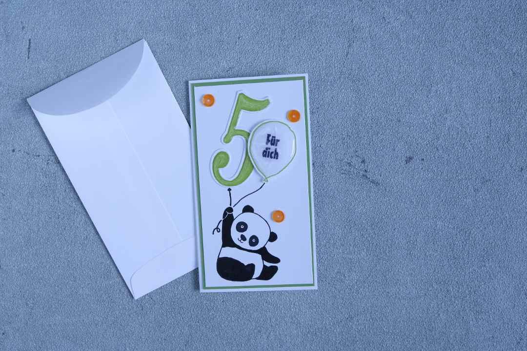 Geburstagskarte Party Panda mit Produkten von Stampin' Up! 1