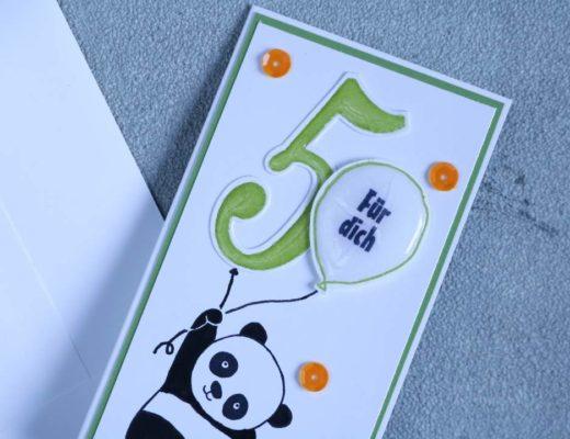 Geburstagskarte Party Panda mit Produkten von Stampin' Up! 2