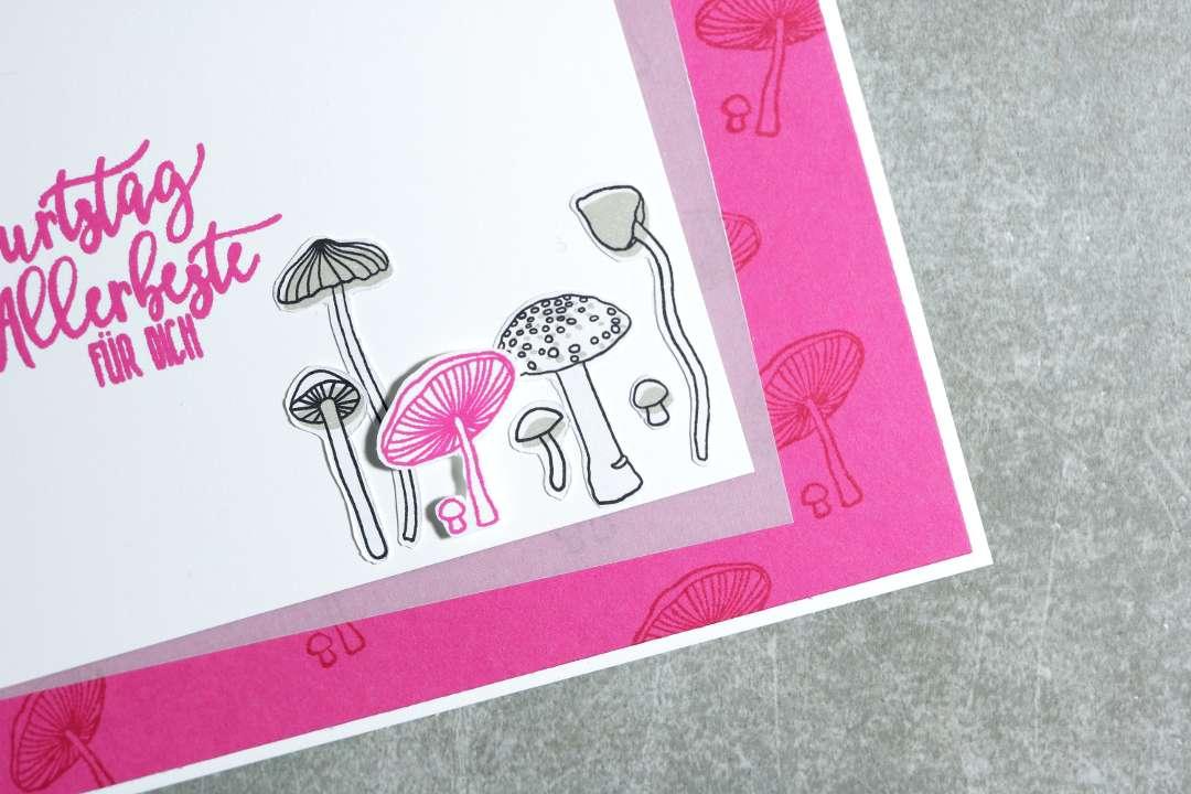 Geburtstagskarte mit Pilzen mit Produkten von Stampin' Up! 2