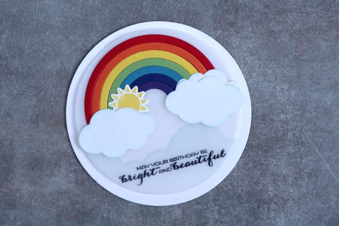 Geburtstagskarte mit einem Regenbogen mit Stampin' Up! 1