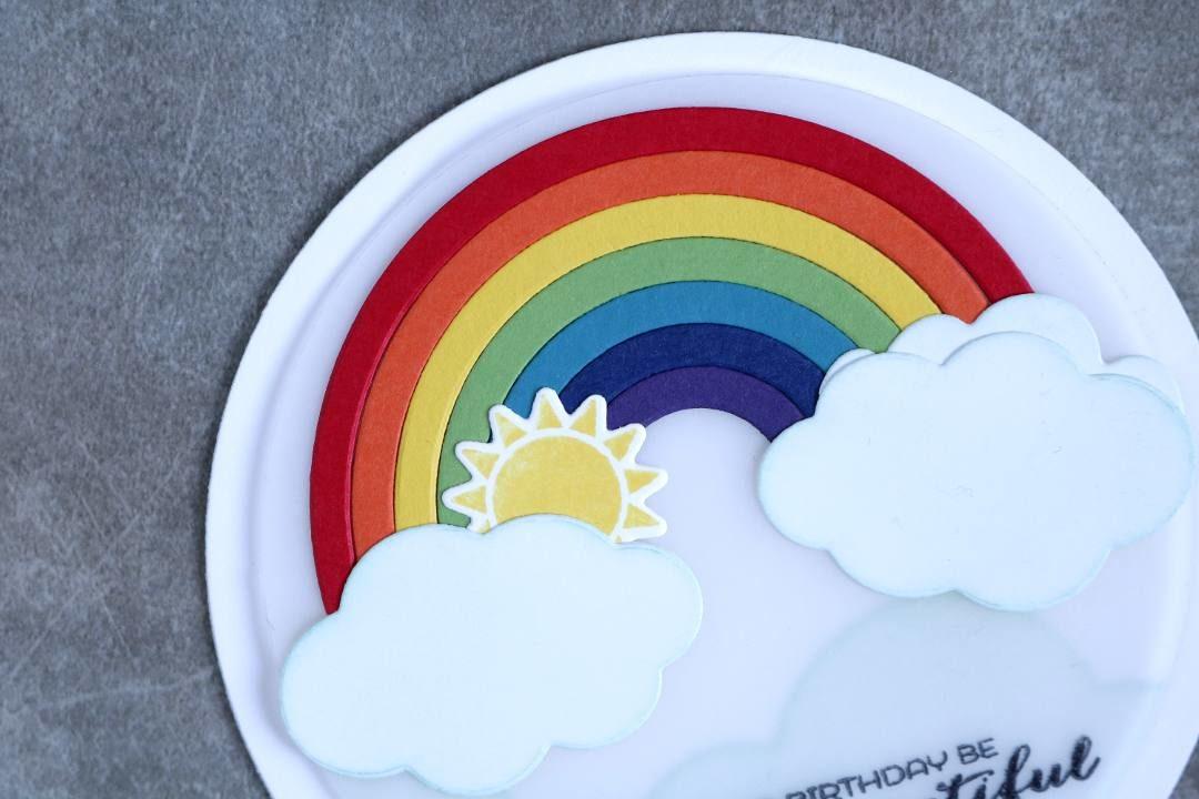 Geburtstagskarte mit einem Regenbogen mit Stampin' Up! 2