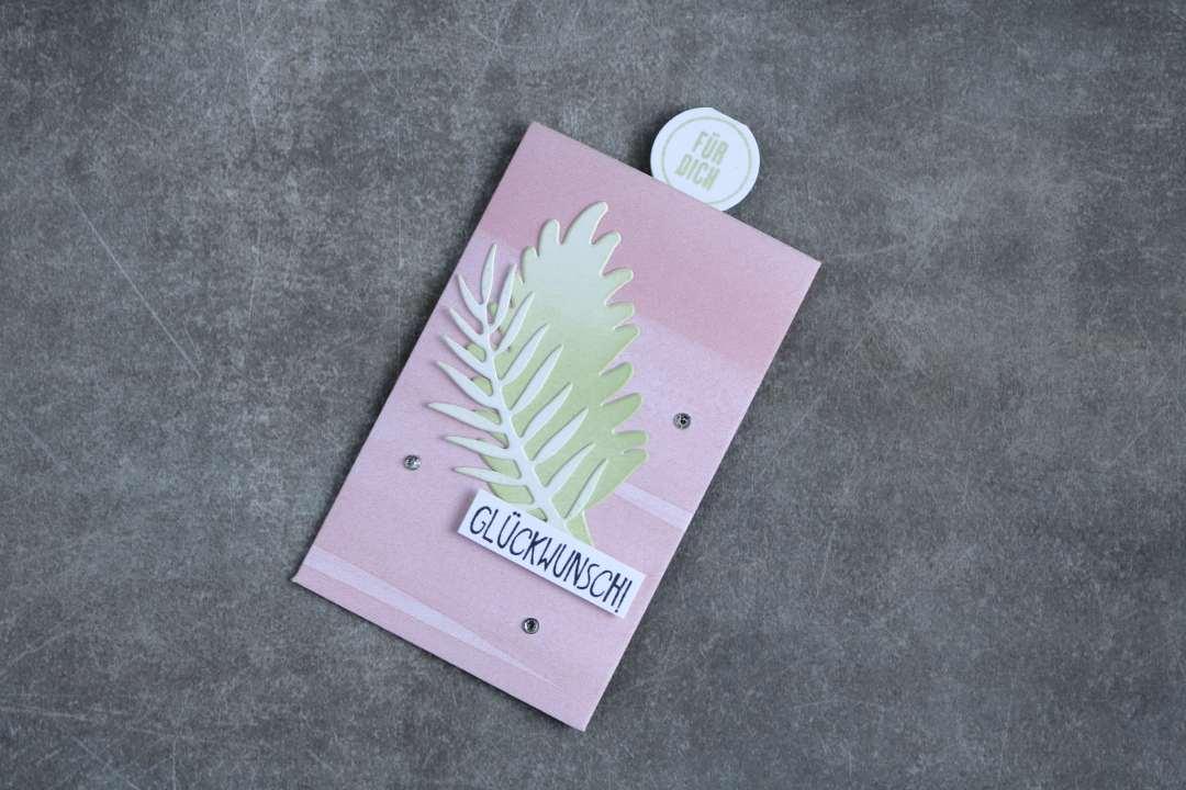 Geschenkanhänger in Kirschblüte mit Produkten von Stampin' Up! 1