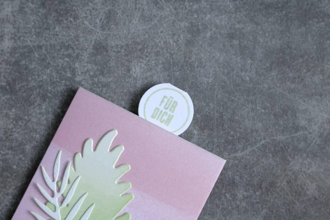 Geschenkanhänger in Kirschblüte mit Produkten von Stampin' Up! 3
