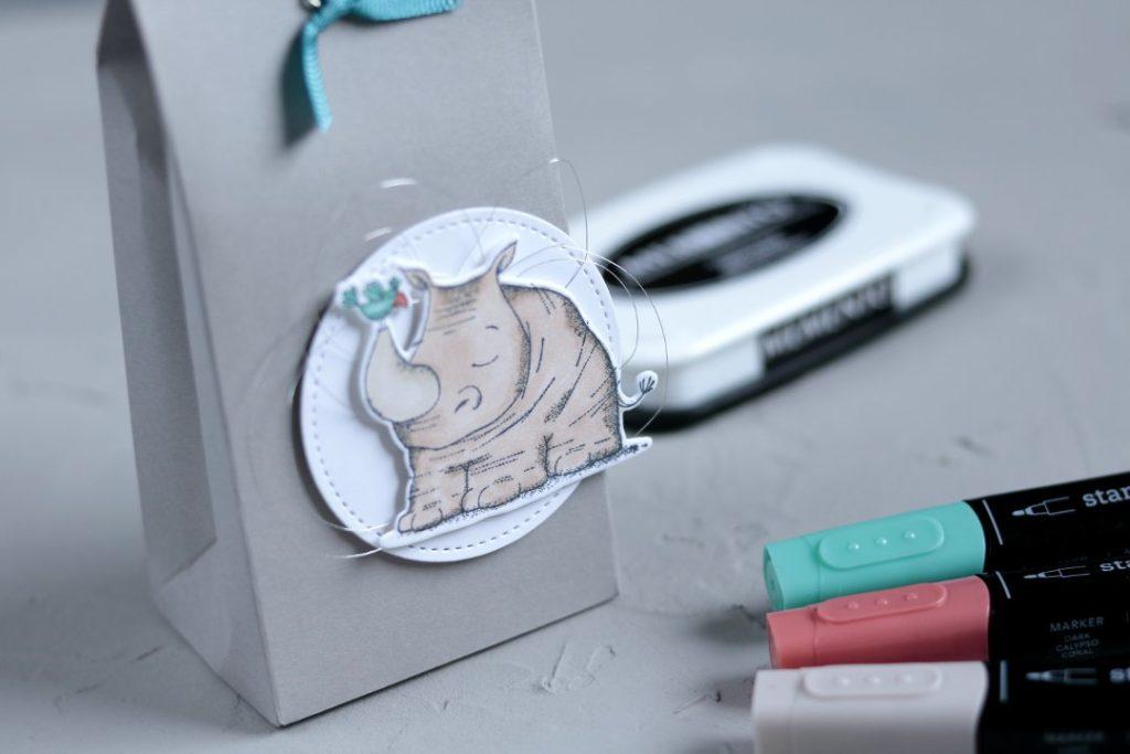 Geschenkverpackung tierische Grüße mit Produkten von Stampin' Up! 2