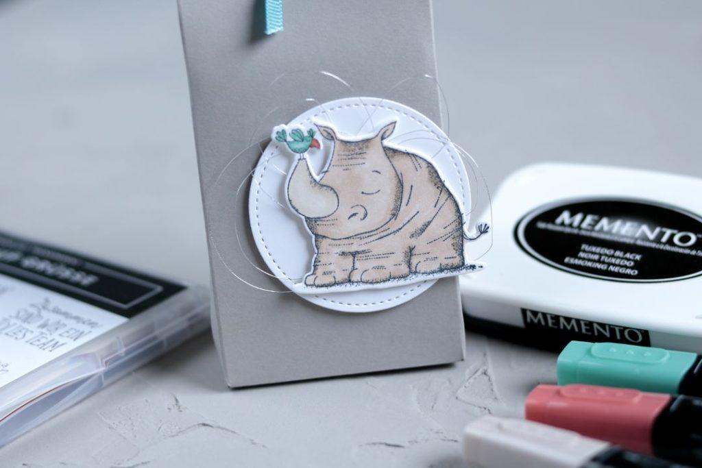 Geschenkverpackung tierische Grüße mit Produkten von Stampin' Up! 3