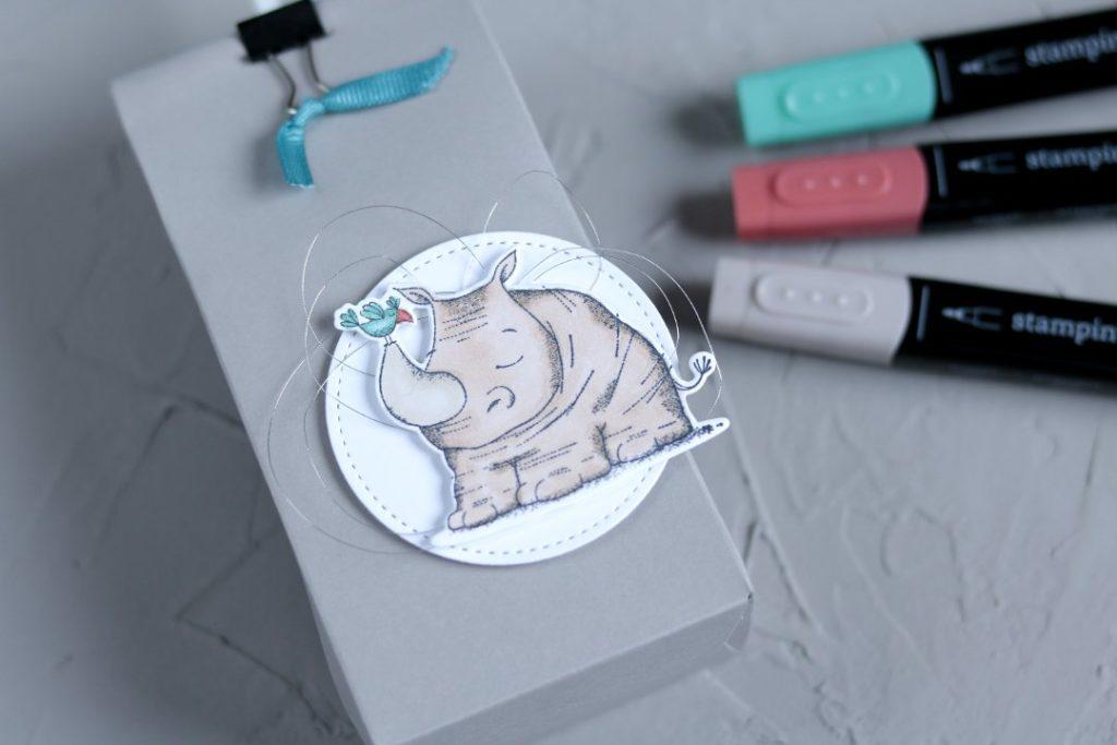 Geschenkverpackung tierische Grüße mit Produkten von Stampin' Up! 4