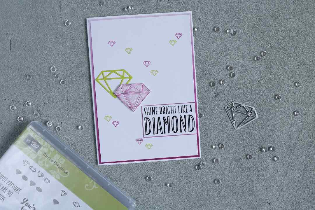 Karte shine bright like a diamond mit Produkten von Stampin' Up! 1