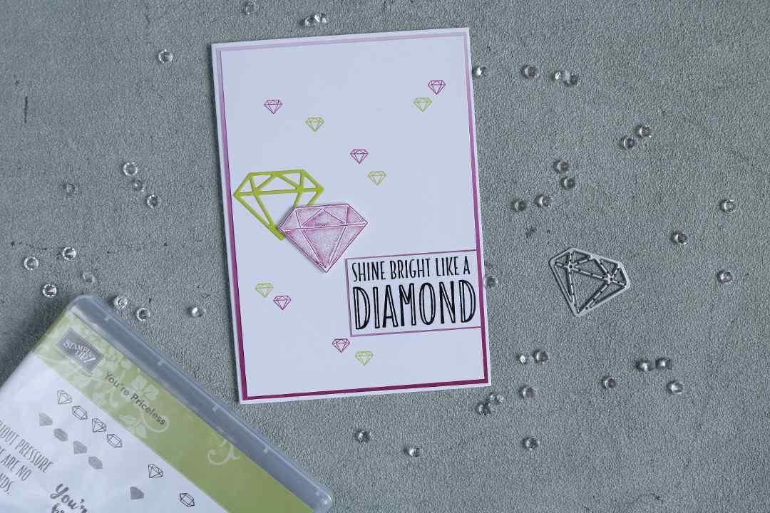 Karte shine bright like a diamond mit Produkten von Stampin' Up! 1