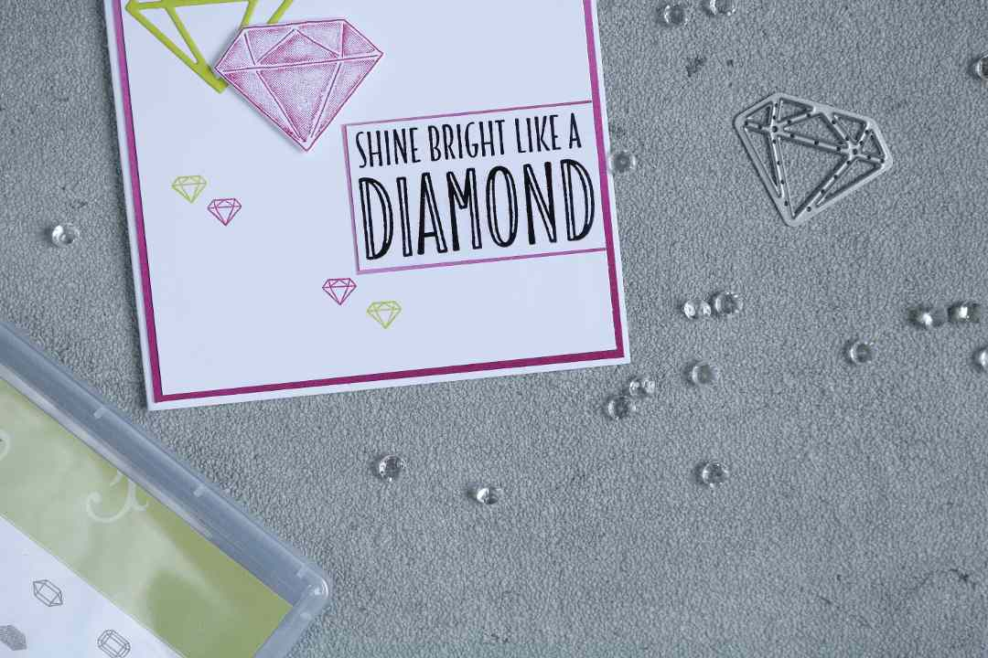 Karte shine bright like a diamond mit Produkten von Stampin' Up! 2