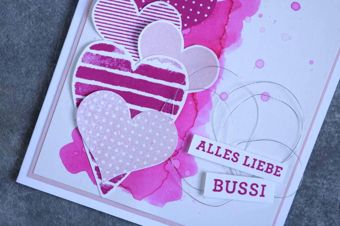 Grußkarte Heart Happiness mit Produkten von Stampin' Up! 3