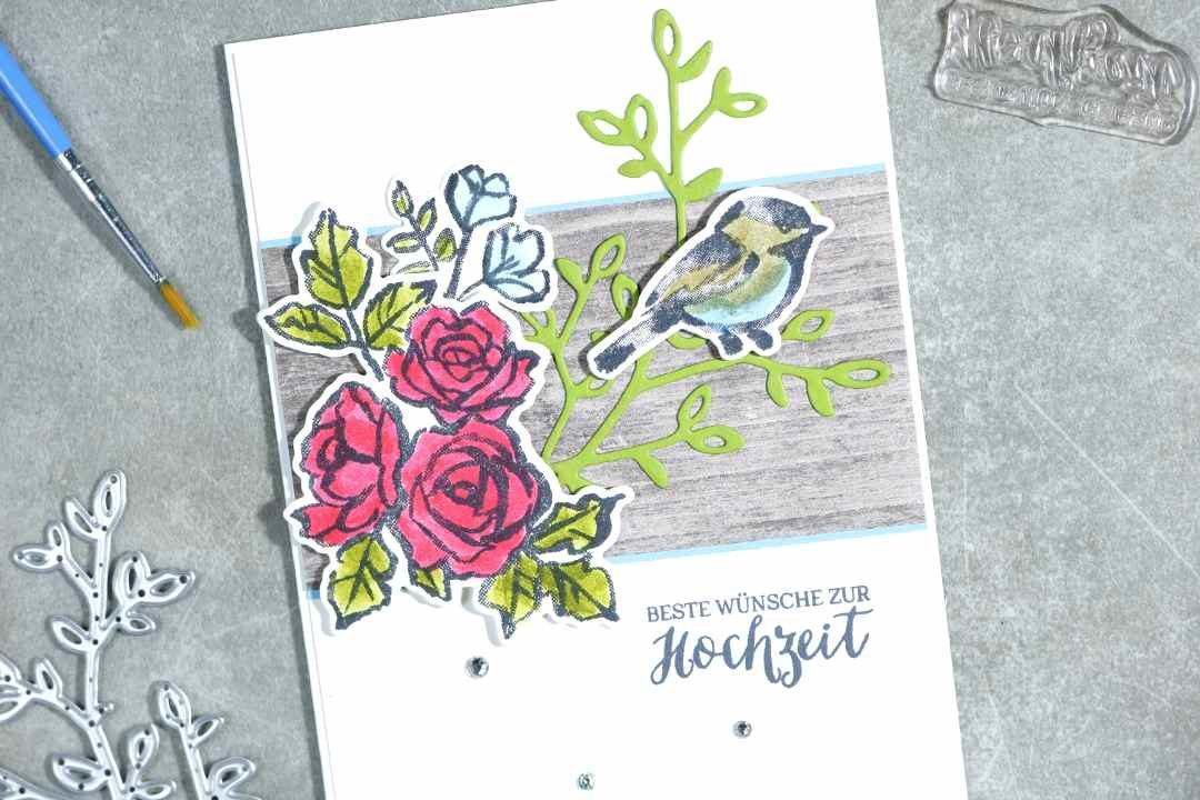 Hochzeitskarte mit Produkten von Stampin' Up!