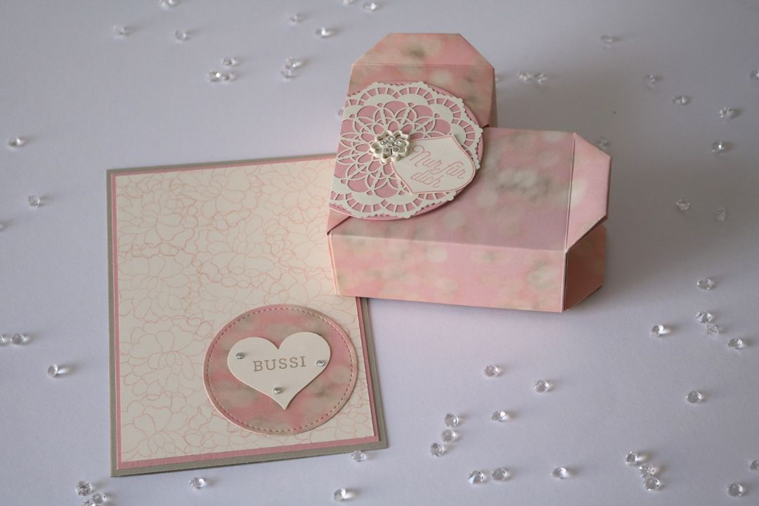 Origami Herzbox und Karte zum verlieben von Stampin' Up!