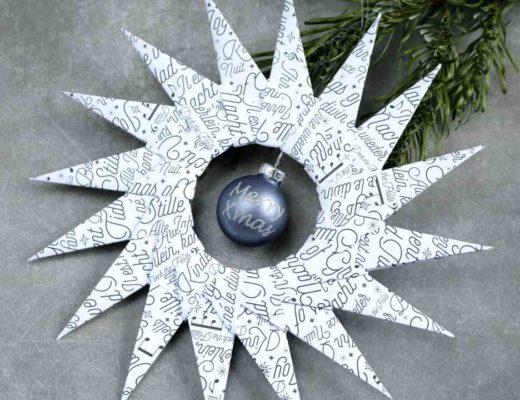 Türschmuck Origamistern mit Stampin Up! Produkten 1