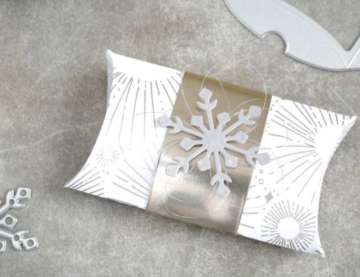 Gutscheinverpackung Pillowbox Schneeflocke mit Produkten von Stampin' Up! 2