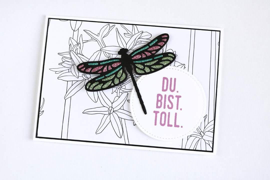 Sale-A-Bration Karte Glitzerpapier mit Libellen von Stampin' Up!3