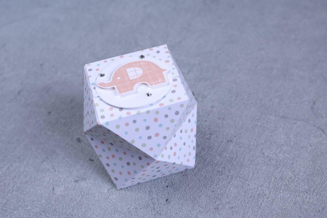 facettierte Geschenkschachtel mit Produkten von Stampin' Up! 3