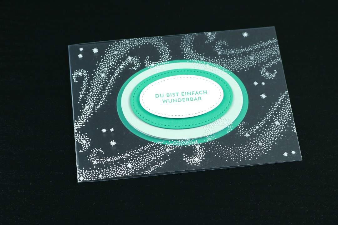 transparente Karte mit Produkten von Stampin' Up!